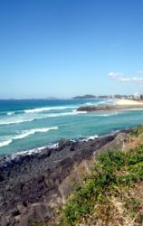 Gold Coast weather at its best - Winter's day looking south from Burleigh Heads.
