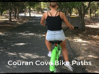 Bike paths are generally safe at Couran Cove, very little traffic for novices to worry about.