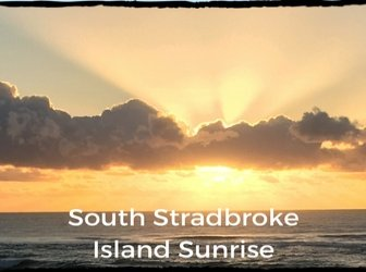 Sunrise at beach on South Stradbroke Island
