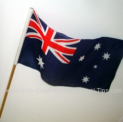 Australia's pride in our ANZAC traditions see many Australian flags on sticks being waved around at the ANZAC day marches and services. We are proud of our heritage.
