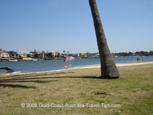 Don't worry if you forget the umbrella there are palm trees for shade at Budds Beach.