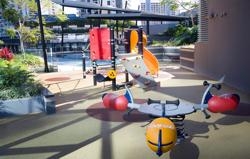 Circle on Cavill kids playground.