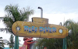 Dreamworld Reef Diver is in Ocean Parade - this is a medium intensity thrill ride!