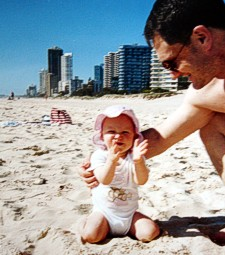 Early morning in November on the beach at Surfers Paradise