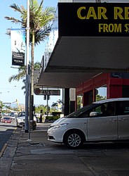 East Coast Car Rentals in Surfers Paradise.
