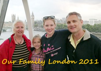 Family on London Eye July 2011