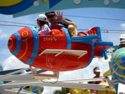 Flying high at Cartoon Beach Sea World