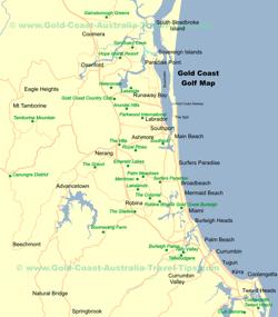 Thumbnail of Gold Coast Golf Map