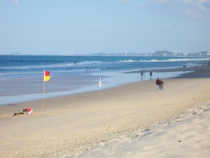 Gold Coast beach vacation destination Main Beach.