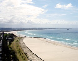 Gold Coast beaches in March are a great place to be. This one is at Coolangatta.