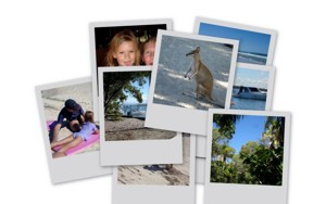 Memories captured on film from Gold Coast family holidays.