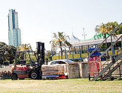 Gold Coast Indy preparations are in full swing during October in Surfers Paradise and Main Beach areas.