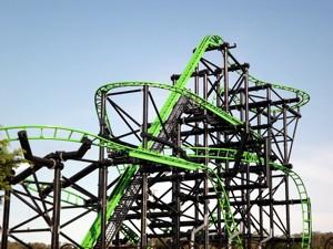 Green Lantern Rollercoaster at Movie World