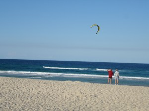 Kite surfing at Mermaid Beach