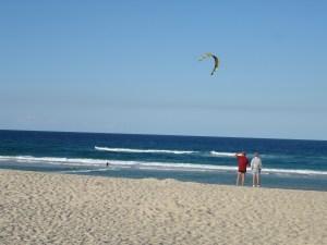 Kite surfing at Mermaid Beach