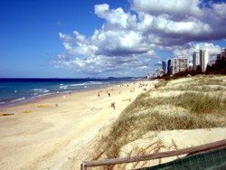 Main Beach looking south towards Surfers Paradise