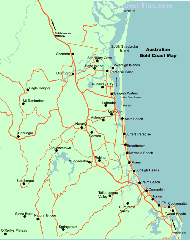 Map Of The Gold Coast – Gold Coast Australia Map