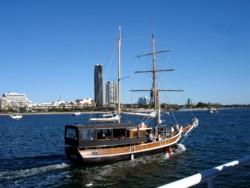Tall Ship Cruise on Maranoa to South Stradbroke Island