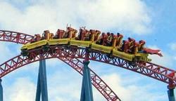 Movie World Superman Rollercoaster on the Gold Coast