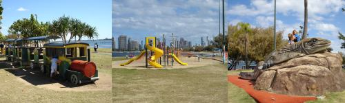 Playgrounds in Southport in the Broadwater Foreshore Park