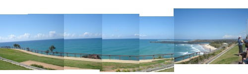 Point Danger Lookout Panorama of Ocean