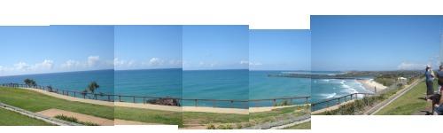 Point Danger Lookout Panorama of Ocean