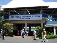 Sea World Monorail gives you a great way to see the park from above whilst saving your feet!