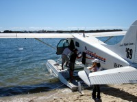 Seaplane flight on Gold Coast in October.