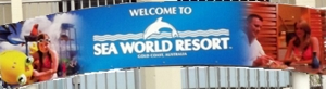 Sea World Resort Sign from Monorail