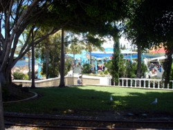 Shady area in Sea World