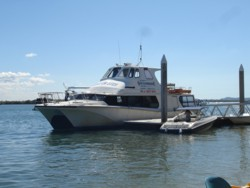 The OLD South Stradbroke Island Resort Ferry Service. It departed from Runaway Bay Marina to the resort several times a day.