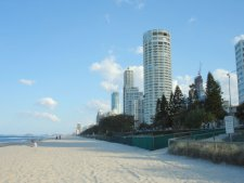 Surfers Paradise Beach looking towards Q1