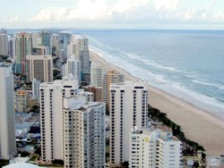 Surfers Paradise Beach View from Q1