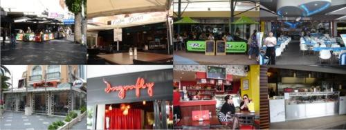 Different views of Surfers Paradise restaurants, cafes and places to eat.
