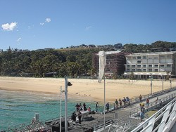 Tangalooma apartments are right on the beachfront next to the ferry jetty.