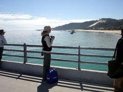 Taking in the view on our Tangalooma Day Trip.