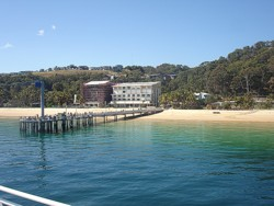 Tangalooma Island Resort - First Glimpse from the Ferry