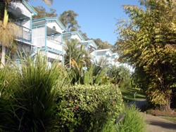 Tangalooma Villas are right on the beach front with an awesome view across Moreton Bay