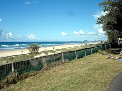 View of Surfers Paradise beach from Elkhorn Avenue looking south.