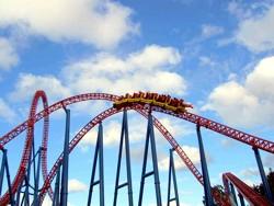 Warner Bros Movie World Superman Escape Roller Coaster