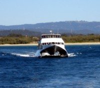 Whale watching season on the Gold Coast - you will see the whale watching boats going out of the seaway.