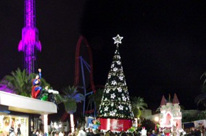 White Christmas atmosphere at Movie World Gold Coast