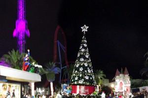 White Christmas atmosphere at Movie World Gold Coast