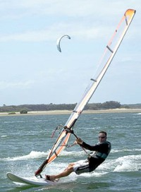 Wind and water sports on the Gold Coast