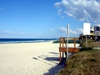 Beautiful beaches in the Gold Coast in August