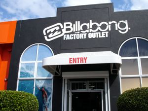 Billabong Factory outlet at Central Park Plaza Ashmore