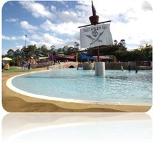Bucaneer Bay at Wet n Wild in Summer - great to cool off...