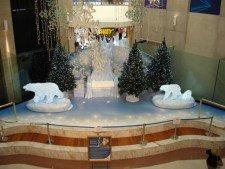 Christmas in Australia Fair Shopping Centre - awaiting Santa's arrival!
