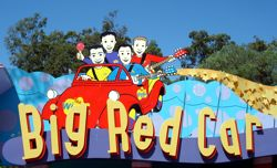 Dreamworld Big Red Car Ride in Wiggles World. The queuing is tedious but the ride is fun!