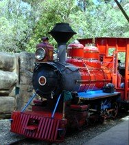 Dreamworld Railway has 4 stations and goes around about half the park.